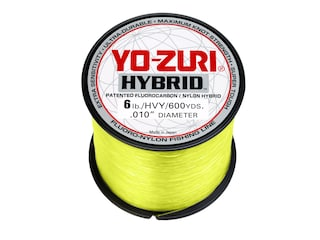 Yo-Zuri Hybrid  Fluorocarbon Fishing Line 6lb 600yd High-Vis Yellow