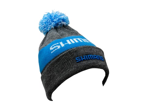 Shimano Men's Pom Beanie Gray Blue One Size Fits Most