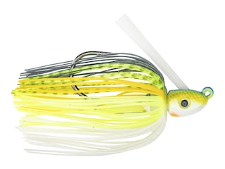 Strike King Hack Attack Heavy Cover Swim Jig Chartreuse Sexy Shad 3/8 oz