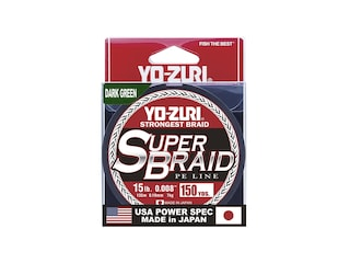 Yo-Zuri Superbraid Braided Fishing Line 15lb 150yd Dark Green