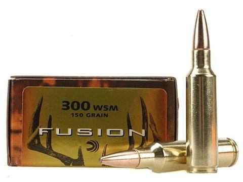 Federal Fusion Ammunition 300 Winchester Short Magnum (WSM) 150 Grain Bonded Spitzer Bo...