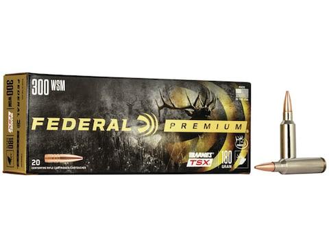 Federal Premium Ammunition 300 Winchester Short Magnum (WSM) 180 Grain Barnes TSX