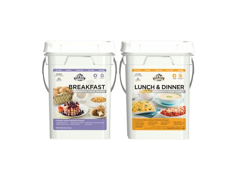 Augason Farms Breakfast Lunch & Dinner Pail Combo Survival Food 254 Serving