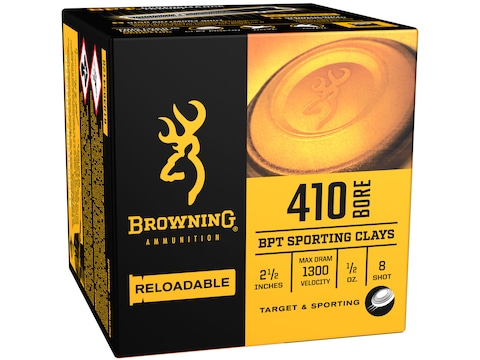 "Browning BPT Target Ammunition 410 Bore 2-1/2"" 1/2 oz #8 Shot Box of 25"