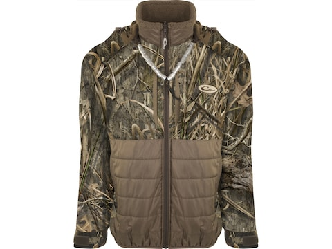 Drake Men's Guardian Flex Double Down Waterproof Insulated Hooded Eqwader Jacket