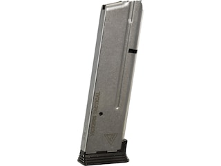 Wilson Combat Vickers Duty Magazine ETM-V with Base Pad 1911 Government, Commander 9mm Luger 10-Round Stainless Steel