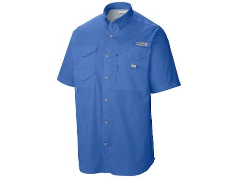 Columbia Men's PFG Bonehead Button-Up Short Sleeve Shirt Cotton