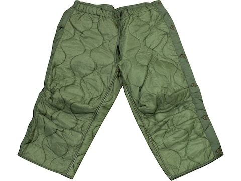 Military Surplus M-65 Cold Weather Trouser Liner (Side Opening) Grade 1 Olive Drab Large