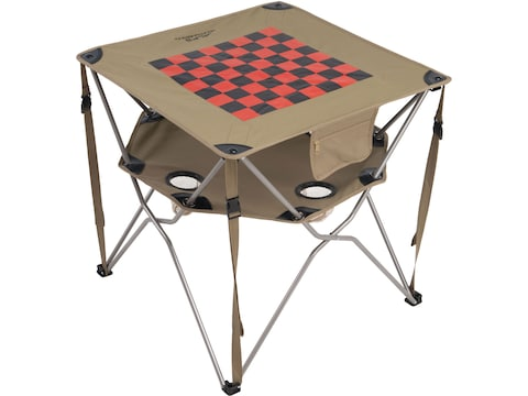 ALPS Mountaineering Eclipse Camp Table Aluminum Khaki with Checkerboard