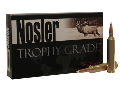 Nosler Trophy Grade Ammunition 26 Nosler 129 Grain AccuBond Long Range Box of 20
