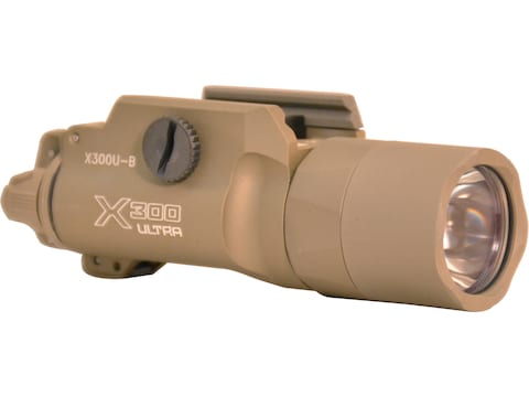 Surefire X300U Ultra Weaponlight with T-Slot Mounting Rail LED with 2 CR123A Batteries ...