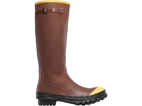 "LaCrosse Pac 16"" Rust Steel Toe Work Boots Rubber Rust Red Men's"