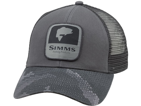Simms Men's Bass Patch Trucker Cap Cotton/Polyester