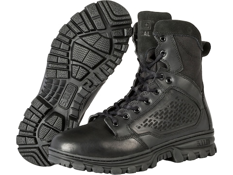 """5.11 EVO 6"""" Side Zip Tactical Boots Leather and Nylon Black Men's"""