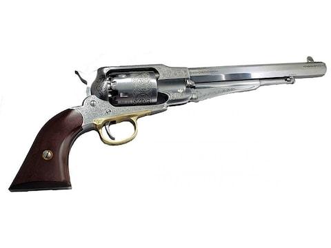 "Pietta 1858 Remington Black Powder Revolver 44 Caliber 8"" Barrel White Frame"