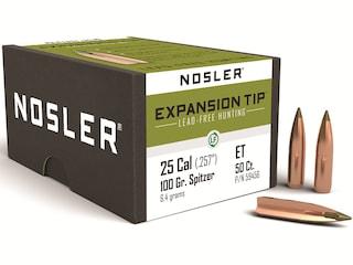 Nosler E-Tip Bullets 25 Caliber (257 Diameter) 100 Grain Spitzer Boat Tail Lead-Free Box of 50