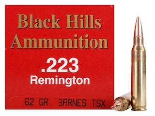 Black Hills Ammunition 223 Remington 62 Grain Barnes TSX Hollow Point Boat Tail Lead-Free Box of 50