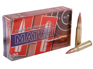 Hornady Superformance Match Ammunition 308 Winchester 168 Grain ELD Match Box of 20