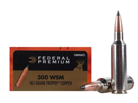 Federal Premium Ammunition 300 Winchester Short Magnum (WSM) 165 Grain Trophy Copper Ti...