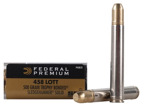 Federal Premium Safari Ammunition 458 Lott 500 Grain Trophy Bonded Sledgehammer Box of 20