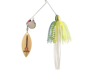 Strike King KVD Finesse Tandem Spinnerbait 3/8oz Chartreuse Sexy Shad Nickel/Gold