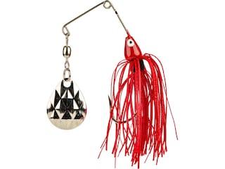 Strike King Mini-King Single Colorado Spinnerbait 1/8oz Red Shad Head Red Shad Skt Nickel