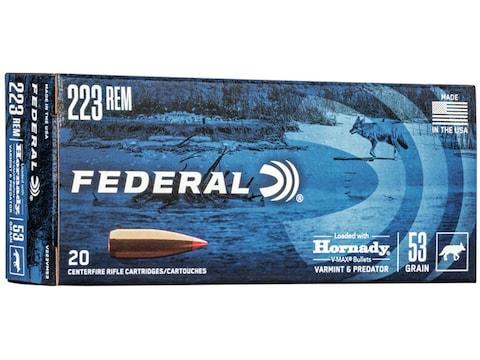 Federal Varmint Ammunition 223 Remington 53 Grain Hornady V-MAX