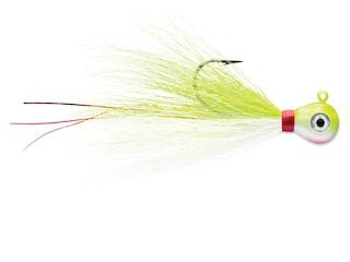 VMC Bucktail Jig Chartreuse White 3/8 oz