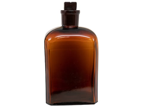 Military Surplus Swedish Apothecary Bottle Grade 1 Glass Brown
