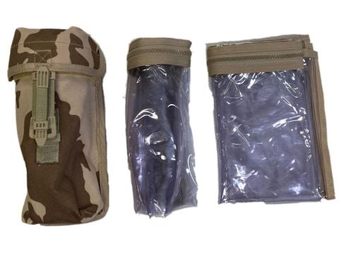 Military Surplus Czech Desert Camo Molle Pouch With Map Case Grade 2
