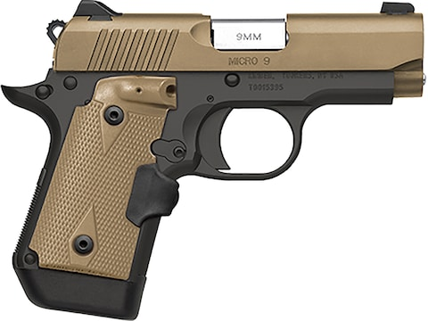 "Kimber Micro 9 Desert Tan (LG) Pistol 9mm Luger 3.15"" Barrel 6-Round Crimson Trace Lase..."