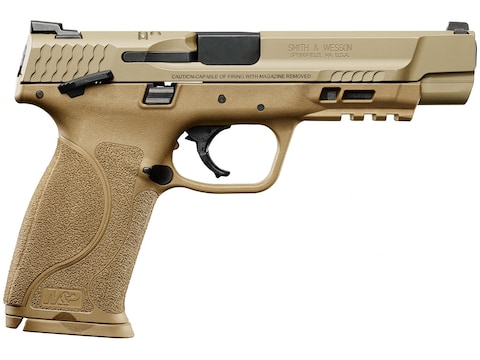 """Smith & Wesson M&P9 M2.0 Pistol 9mm Luger 5"""" Barrel 17-Round Flat Dark Earth with Thumb..."""