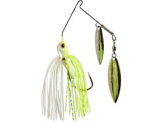 Z-Man Slingbladez Power Finesse Double Willow Spinnerbait 1/4oz Chartreuse Pearl Nickel