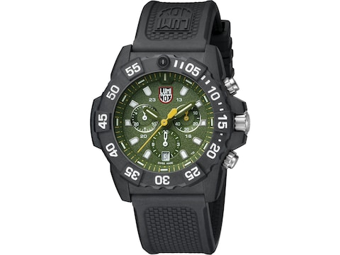 Luminox Navy Seal Chronograph Watch Carbon Compound/Rubber Green/Black