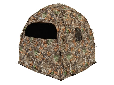 """Ameristep Doghouse Ground Blind 66"""" x 60"""" x 60"""" Polyester Realtree Edge Camo"""
