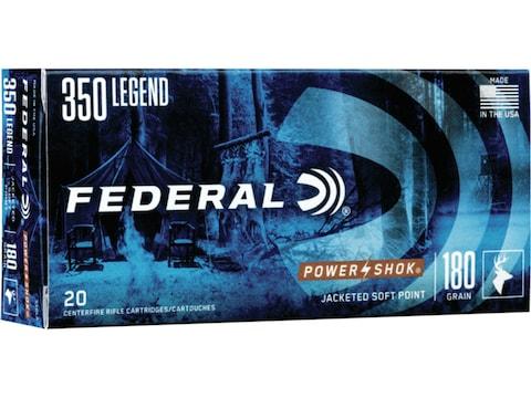 Federal Power-Shok Ammunition 350 Legend 180 Grain Soft Point