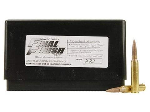 Tubb Final Finish Throat Maintenance System TMS Ammunition 223 Remington Box of 20