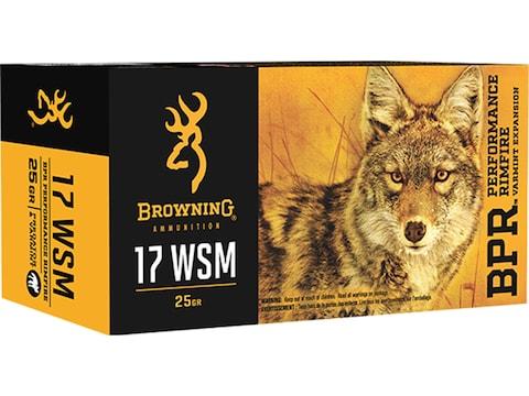 Browning BPR Ammunition 17 Winchester Super Magnum 25 Grain PolyTip Box of 50