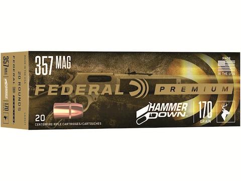 Federal Premium Hammer Down Ammunition 357 Magnum 170 Grain Bonded Soft Point Box of 20
