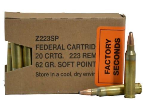 Federal Factory Second Law Enforcement Tactical Ammunition 223 Remington 62 Grain Bonde...