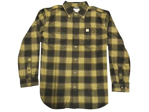 Carhartt Men's Hubbard Button-Up Flannel Long Sleeve Shirt Cotton