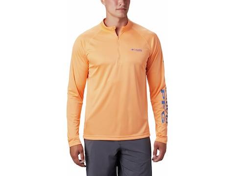 Columbia Men's PFG Terminal Tackle 1/4 Zip Long Sleeve Shirt Polyester