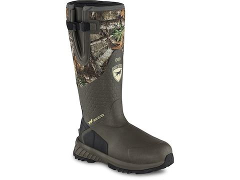 "Irish Setter Mudtrek 17"" 800 Gram Insulated Hunting Boots Rubber/Neoprene Men's"
