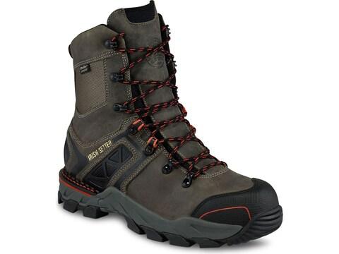 "Irish Setter Crosby 8"" Non-Metallic Safety Toe Work Boots Leather/Nylon Gray Men's"