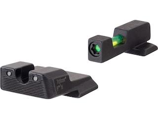 Trijicon DI Night Sight Set S&W M&P, M&P M2.0, SDVE 3-Dot Tritium Green Fiber Optic with Black Retainer