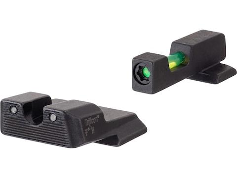 Trijicon DI Night Sight Set S&W M&P, M&P M2.0, SDVE 3-Dot Tritium Green Fiber Optic wit...