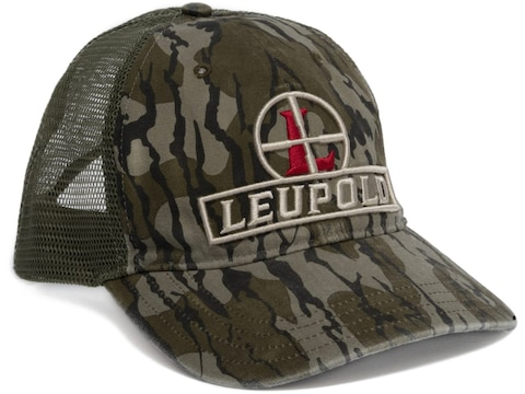 Leupold Men's Reticle Snapback Trucker Hat Cotton Mossy Oak Bottomland