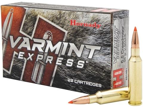 Hornady Varmint Express Ammunition 6.5 Creedmoor 95 Grain V-Max Box of 20