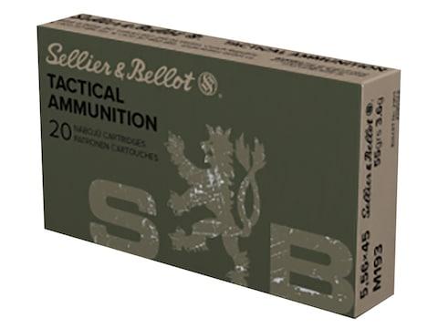 Sellier & Bellot Ammunition 5.56x45mm NATO 55 Grain Full Metal Jacket
