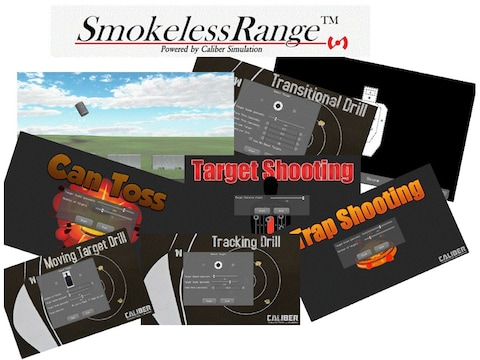 Laser Ammo Smokeless Range Laser Trainer Shooting Simulator Software Package with 3 Add...